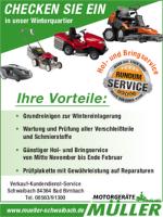 Winter-Service für Ihre Motorgeräte