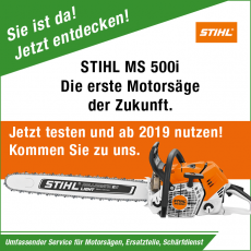 Stihl Motorsäge MS 500i  jetzt testen